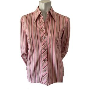 Trina Turk Stretch Cotton Blouse Size Medium